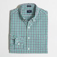 Slim seersucker shirt in gingham