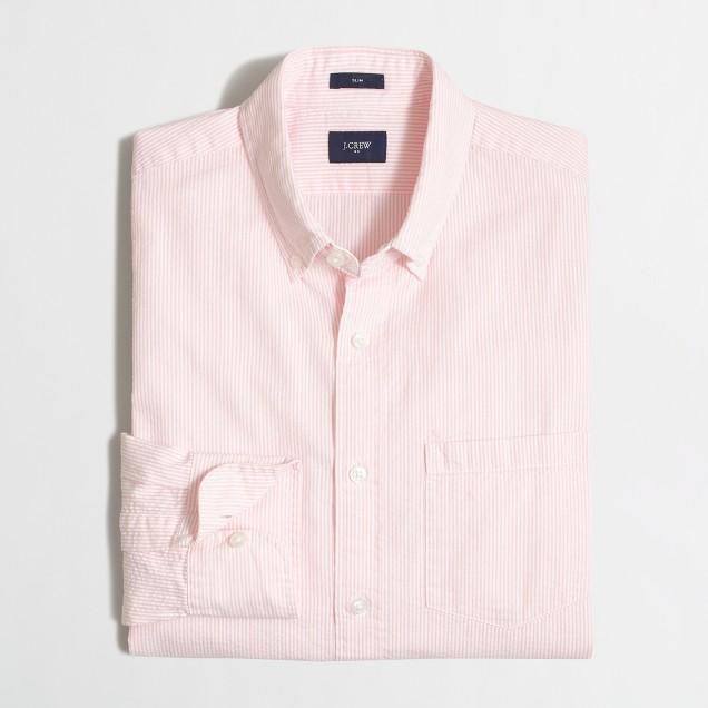 Slim seersucker shirt