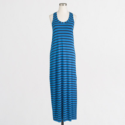 Knit racerback maxi dress in stripe