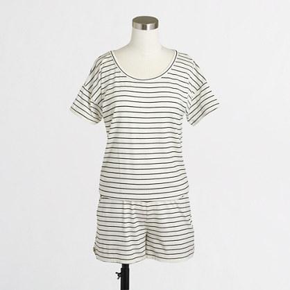 Striped knit romper