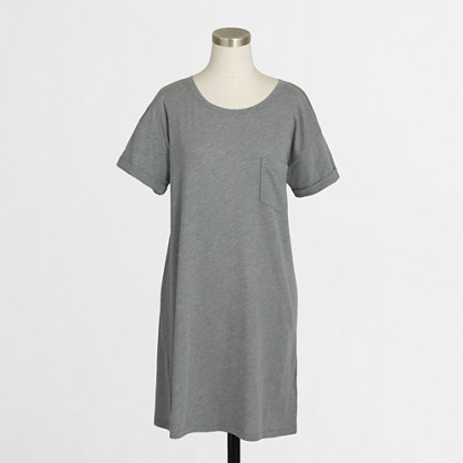 Factory rolled-sleeve tee dress