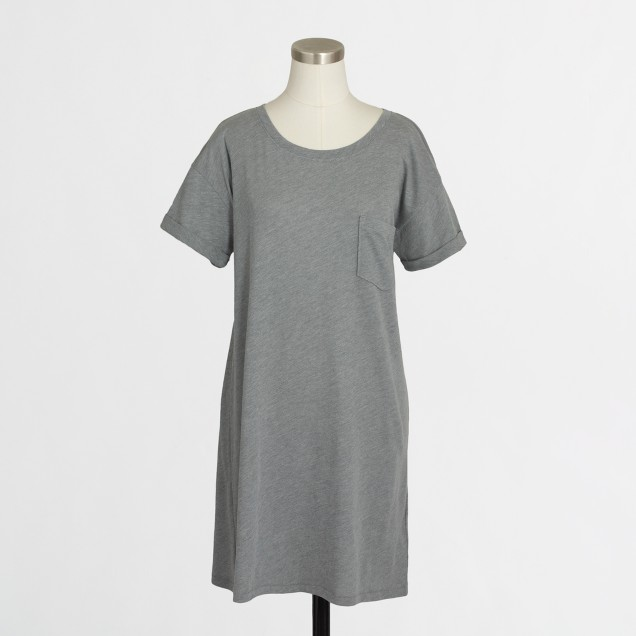 Rolled-sleeve t-shirt dress