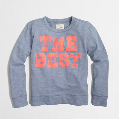 Boys' long-sleeve lightweight the best sweatshirt