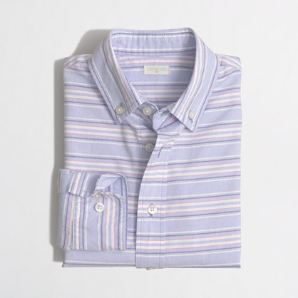 Boys' horizontal-striped oxford shirt