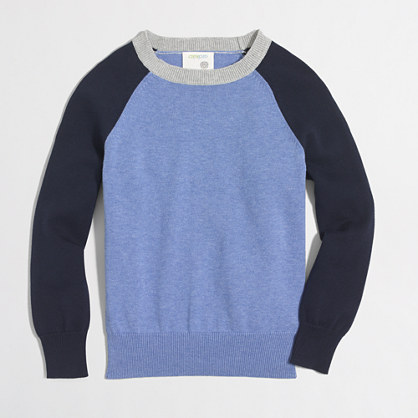 Boys' colorblock baseball sweater