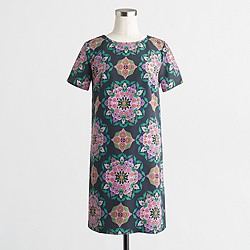 Factory printed T-shirt dress