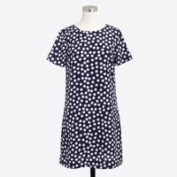 Petite printed short-sleeve gallery dress