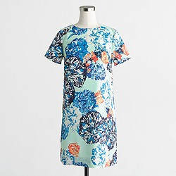 Factory printed drapey T-shirt dress