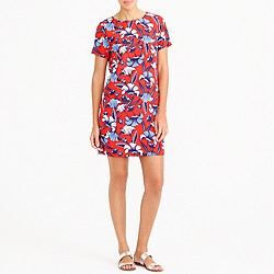 Printed short-sleeve gallery dress