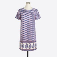 Petite printed short-sleeve gallery dress