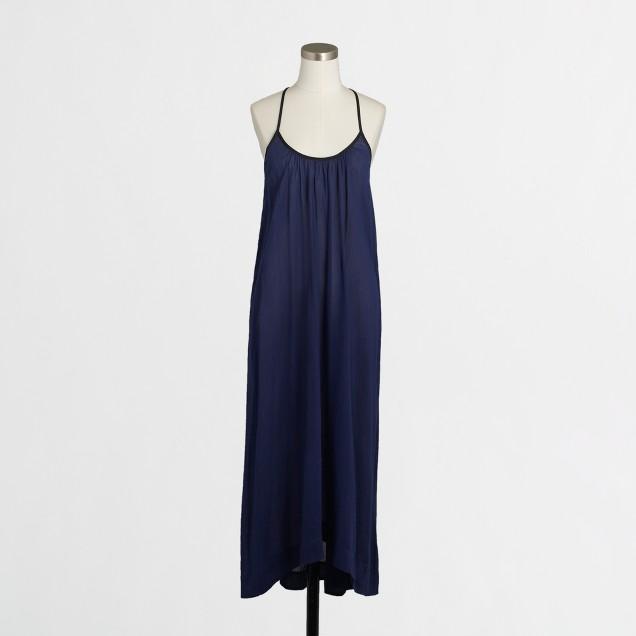 Gauzy tassel-tie maxi dress
