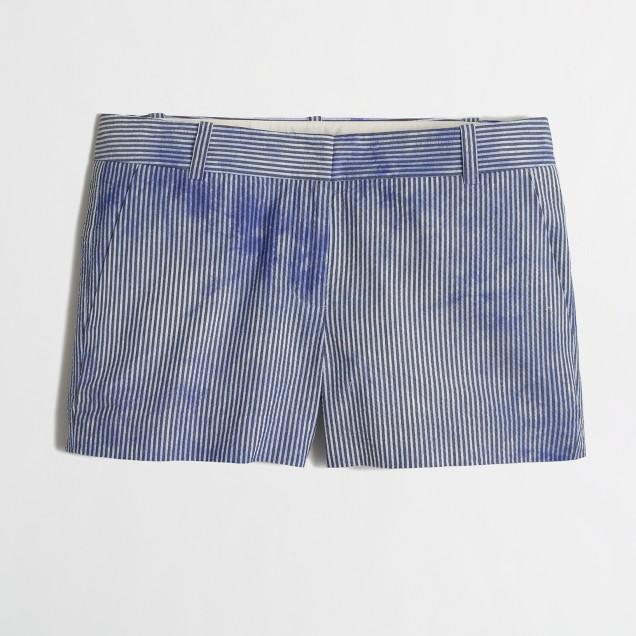 """3"""" Tie-Dye Seersucker Short"""