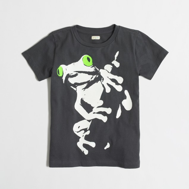 Boys' glow-in-the-dark frog storybook t-SHIRT