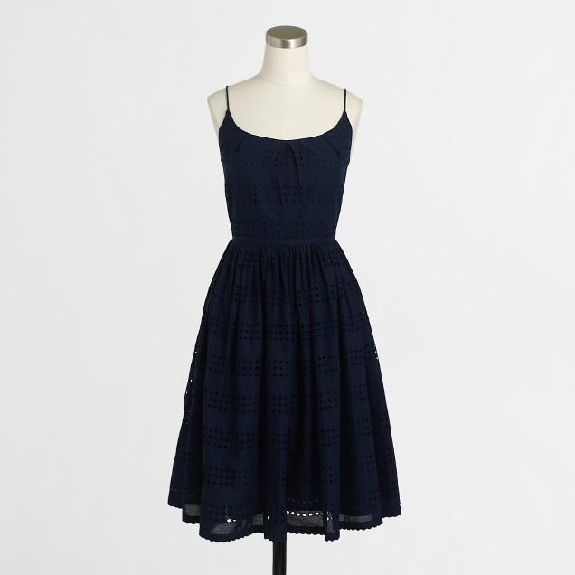 Eyelet stripe dress
