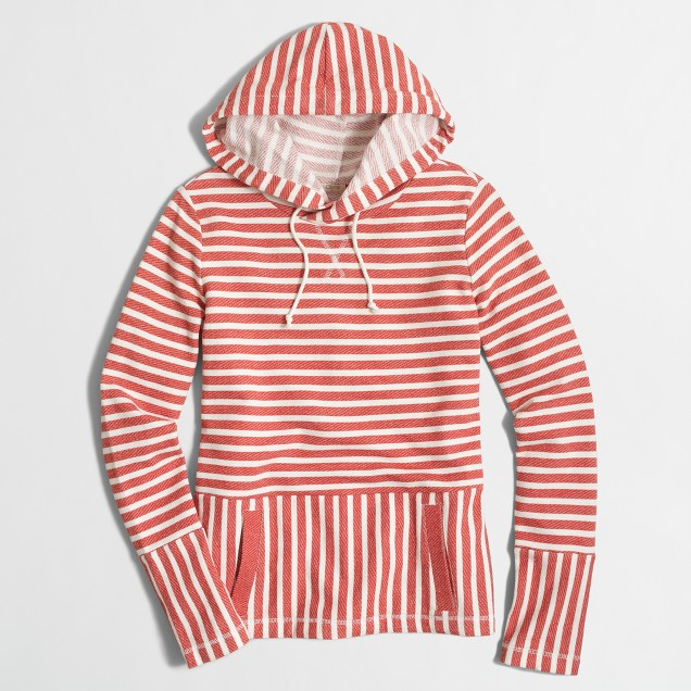Flip-striped sweatshirt