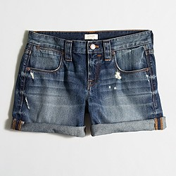 Factory cuffed denim short