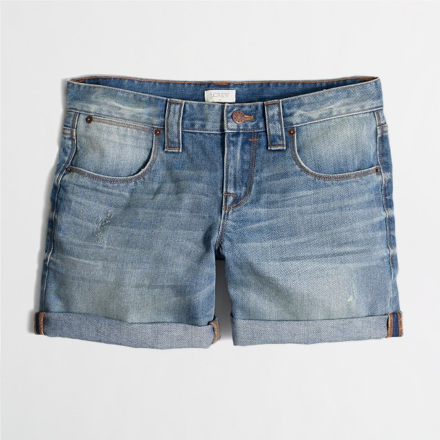 Cuffed denim short