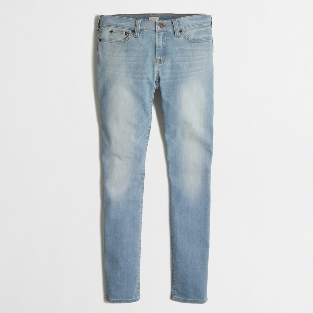 Skinny jean in faded wash