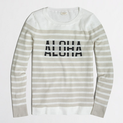 Intarsia aloha sweater