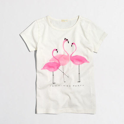 Girls' flamingo party keepsake t-SHIRT