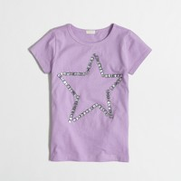 Girls' jeweled star keepsake t-SHIRT
