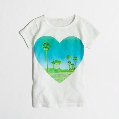 Girls' palm tree heart keepsake t-SHIRT