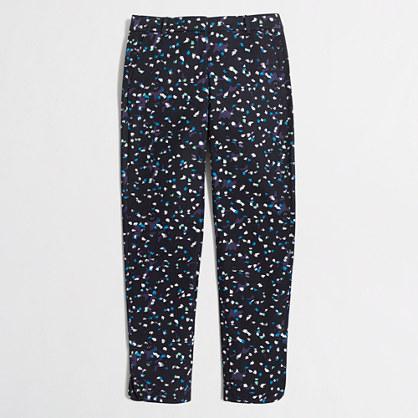 Petite printed cropped Tencel® Pant