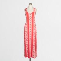 Knit racerback maxi dress in ikat