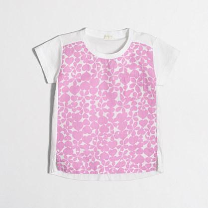 Girls' heart print T-shirt
