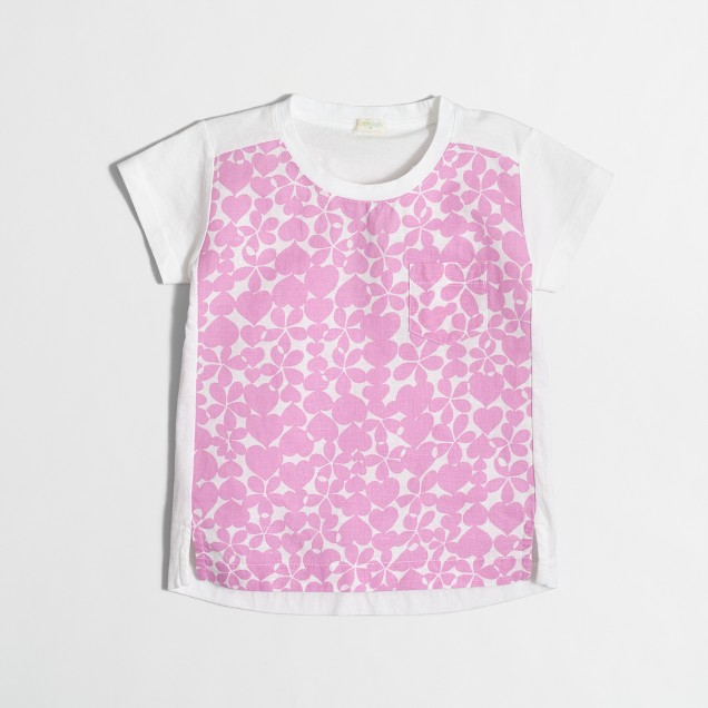Girls' heart print T-shirt
