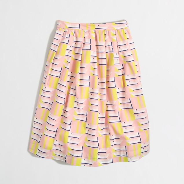 Printed cotton patio skirt
