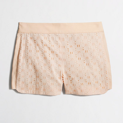 Eyelet and Basket-weave Short
