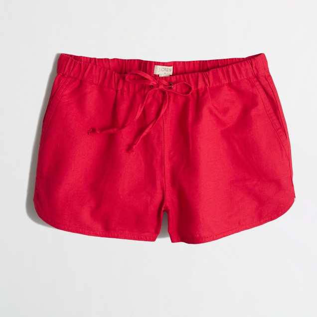 Linen-cotton Drawstring Short