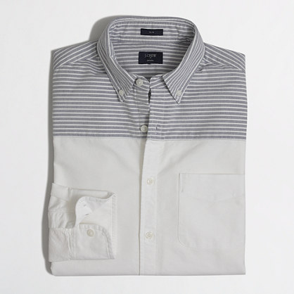 Slim pieced-shoulder oxford shirt