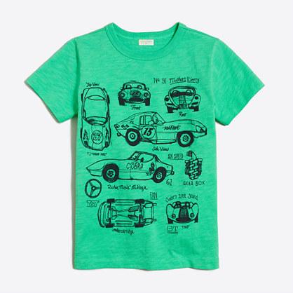 Boys' race car storybook t-SHIRT