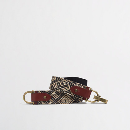 Mixed fabric belt