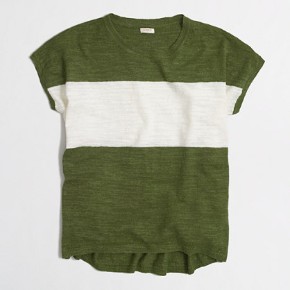 Striped linen sweater t-SHIRT