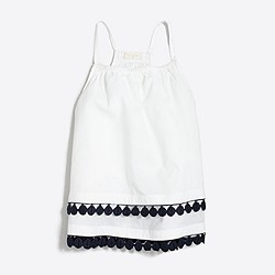 Girls' tassel racerback cami top