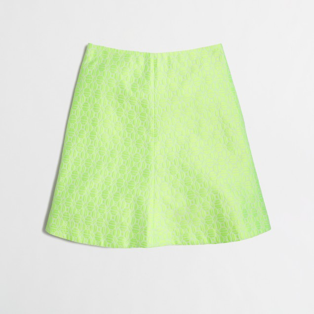 Jacquard skirt in neon floral