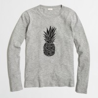 Embroidered pineapple sweater