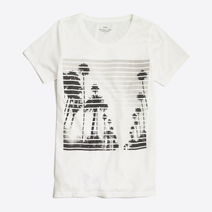 Striped photo collector T-shirt in airy cotton