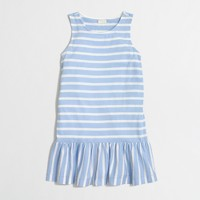 Girls' striped drop-waist dress