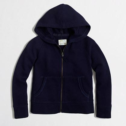 Girls' full-zip hoodie