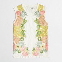Fruit salad collector tank top in airy cotton