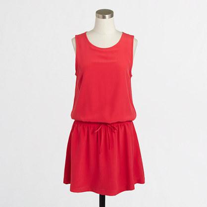 Silk drawstring dress