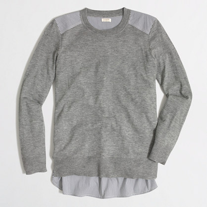 Mixed-media merino sweater