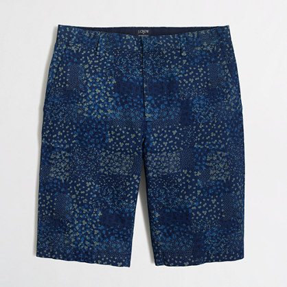 "11"" patchwork indigo Rivington short"