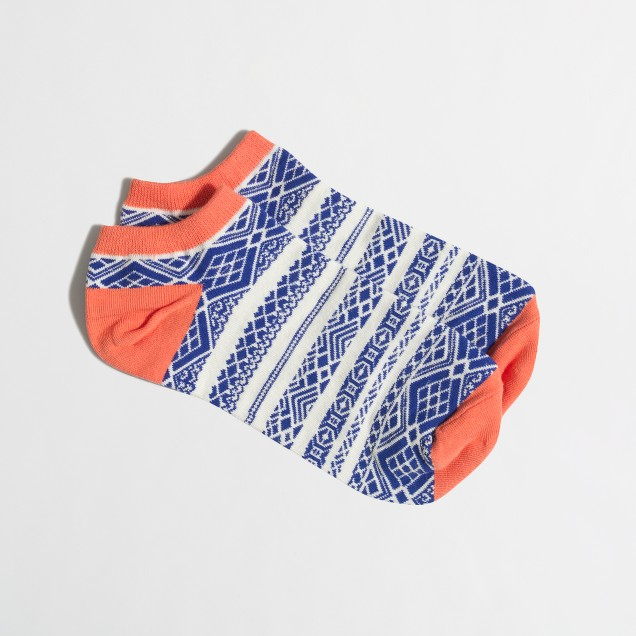 Geometric-stripe tennie socks