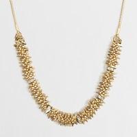 Golden cluster necklace