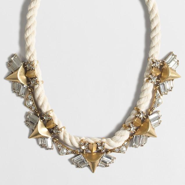 Embellished rope necklace